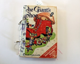 Mini Junk Journal Vintage, The Giants Shoe Altered Book, handmade junk journal, writing journal, gift for her, everyday journal, diary