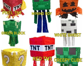 Ready to Ship TNT Pinata Red Color Available as Pull Strings Pinata or Traditional Whack Pinata