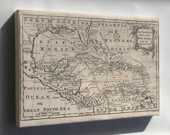 Canvas 24x36; Map Of West Indies Cuba Florida Mexico 1750 P1