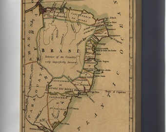 Canvas 24x36; Map Of Brazil, Or Trans-Atlantic Portugal 1808