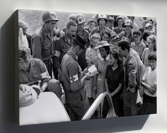 Canvas 24x36; Us Army Medics In Orleans, France 1944