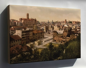 Canvas 16x24; A Panorama From The Palatine, Rome, Italy Lccn2001700956