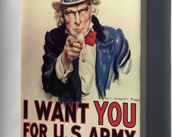 Canvas 16x24; Uncle Sam I Want You For Us Army