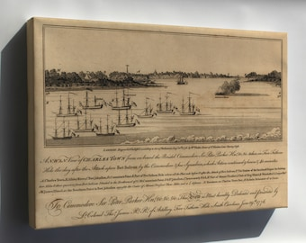 Canvas 16x24; View Charleston South Carolina During Revolution