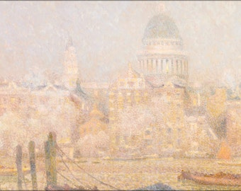 16x24 Poster; Henri Le Sidaner St. Paul'S From The River Morning Sun In Winter