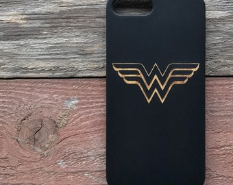 Wonder Woman iPhone 6 7 8 Wood Case Laser Engraved Wood Case iPhone 6 Plus 7 Plus  8 Plus Justice League