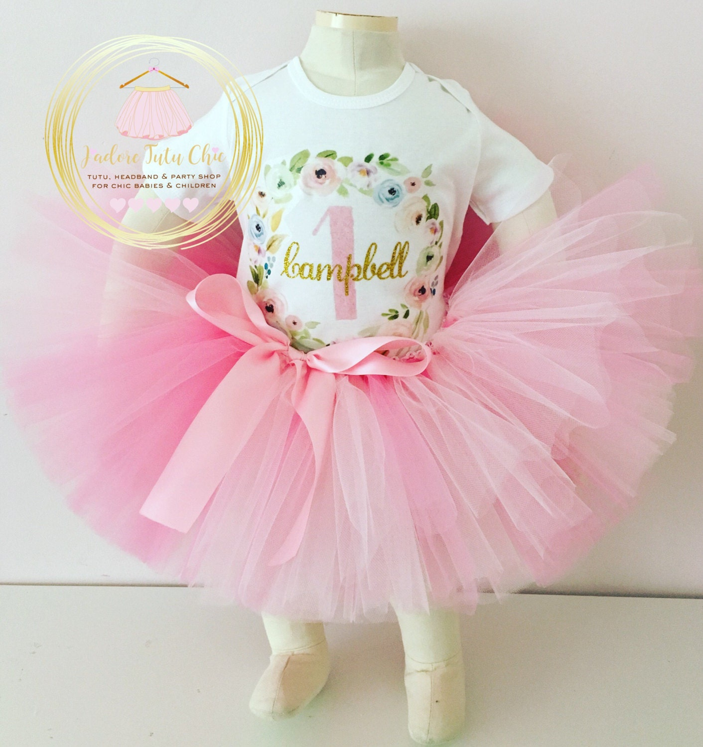 1st Birthday Tutu Outfit Shabby Chic Birthday Outfit