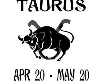 Taurus Date, Taurus SVG, Taurus DXF, Zodiac, Horoscope, Zodiac Sign, Taurus Bull