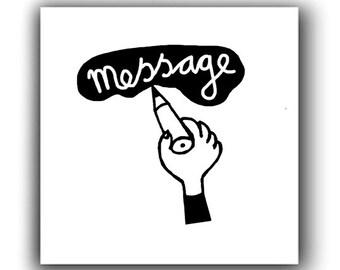 Magnetic film reminder MEMO message message magnetic Board
