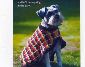 Crochet Pattern pdf. - Crochet Dog Coat for Small to Medium Dog - uses DK Yarn .  Instant Download