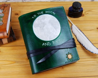 Leather Notebook Personalized Custom Leather Journal Diary Gift Journal Travel Journal TiVergy Book