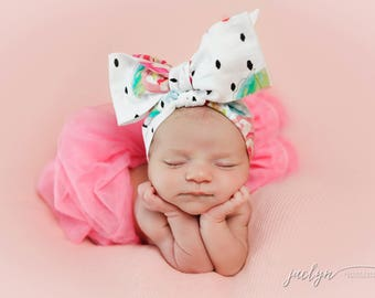 ROSA Gorgeous Wrap- headwrap; fabric head wrap; floral head wrap; boho; newborn headband; baby headband; toddler headband