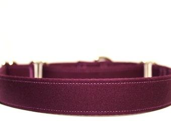 Plum Dog Collar, Purple Dog Collar, Girl Dog Collar, Purple Collasr, Wedding Collars, Plum Collar, Dog Collars, Martingale Collars