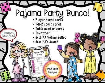 Pajama Party Bunco Set