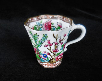 Coalport Bone China Demitasse Cup in the Indian Tree pattern Octagonal