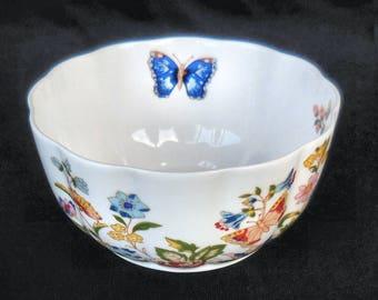 "Aynsley Bone China Variete Bowl in the ""Cottage Garden"" pattern"