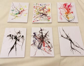 Ink Splatter Postcards - Pack of 6