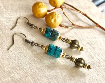 Turquoise  earrings Dangle earrings handmade earrings