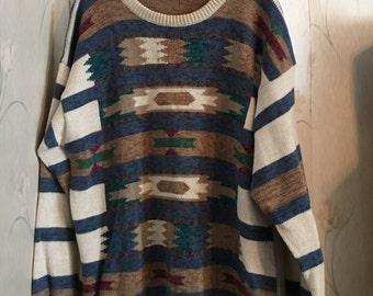 Vintage aztec print sweater