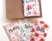 Sunshine Floral Vellum Planner Dashboards For TN's and Midori Travelers Notebook