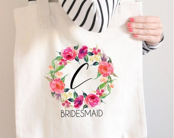 Bridesmaid Tote, Bridal Party Tote Bag, Bridesmaid Proposal, Canvas Tote, Flower Girl, Personalized Tote Bag, Custom Tote, Beach Tote