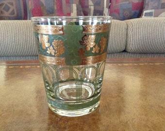 Cera Glass Golden Grapes-Green 12 Ounce Flat Tumbler