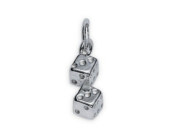 Breloque colombe en argent sterling