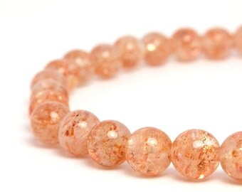 6mm Sunstone Beaded Bracelet