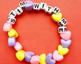 Stim With Me Conversation Heart Bracelet