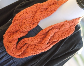 Five Strand Braided Long Cowl