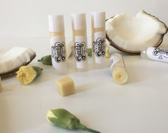 All Natural Peppermint Cocoa Butter Lip Balm