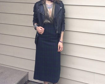 90s\\Plaid Skirt