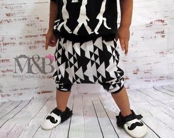 Baby & Toddler cuffed harem shorts