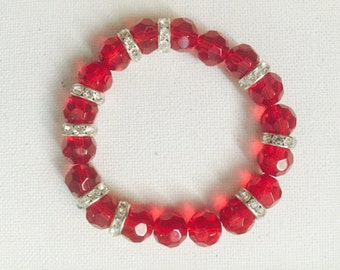 sparkly  red
