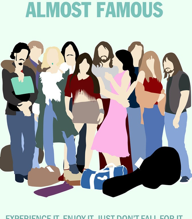 Almost Famous // Minimalist Movie Poster // Unique A4 / A3 Art Print