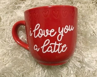 hand lettered coffee mug limited addition valentines coffee mugs