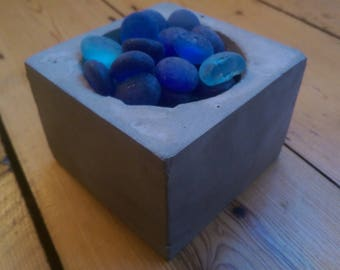 concrete cube planter