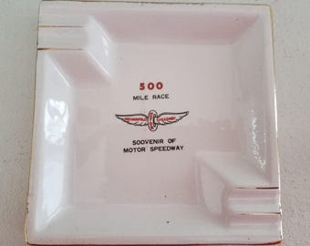 Vintage Souvenir Ashtray Indianapolis Motor Speedway 500 Mile Race