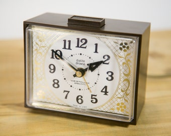Vintage Westclox Dialite Drowse Electric Alarm Clock with Light Up Face #CL15