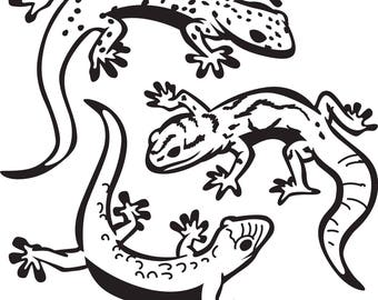 Lizard and Gecko SVG FILES