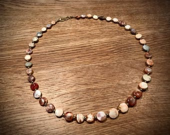 Pyu beads necklace solid gold 18 karat 750 ancient beads