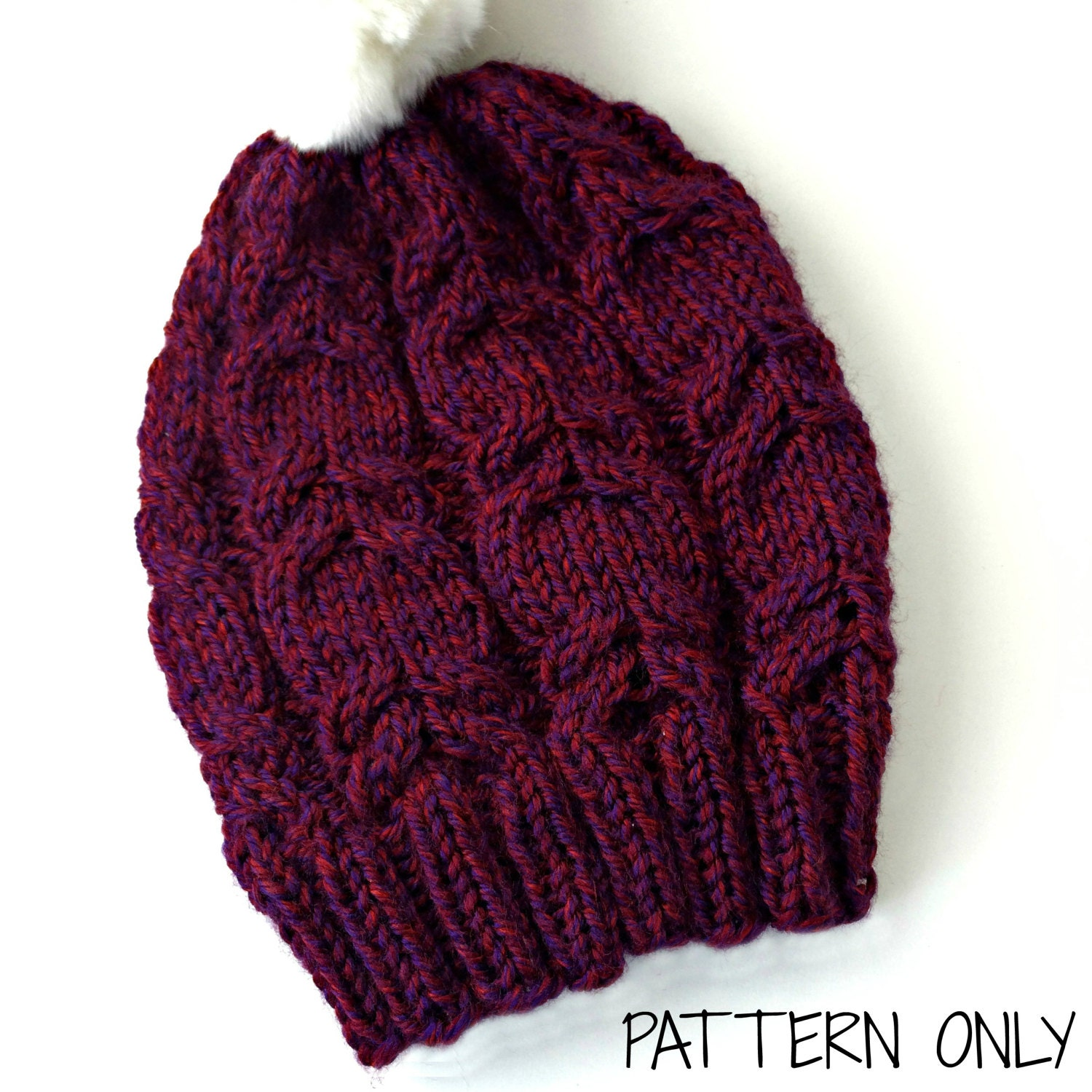 Cable knit beanie pattern fun knitting pattern womens knit hat this is a digital file bankloansurffo Choice Image