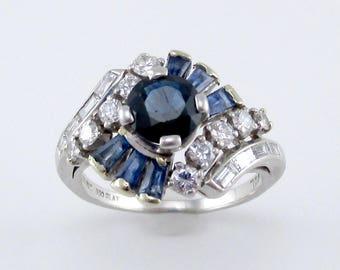 Antique Tivol Sapphire and Diamond Ring