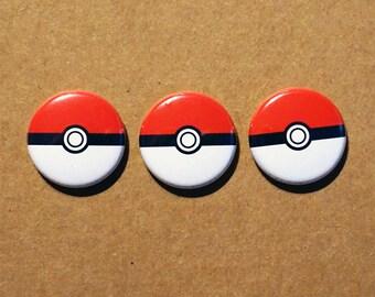"Pokeball Pokemon pinbacks buttons 1"""