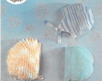 Loopy Baby Hat Baby Hat Pattern Earflap Hat Baby Helmet Pattern Knitted Baby Hat PDF Knitting Pattern Instant Download Digital Pattern