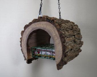Bird Feeder-Black Walnut-The Original Natural Log- Suet - Feeder - Bird Feeder - upcycled from fallen trees - Hand Made - Unique - Gift