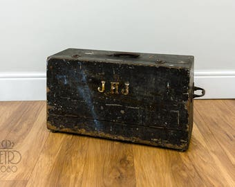 Vintage/Antique JHJ Carpentry Tool Box