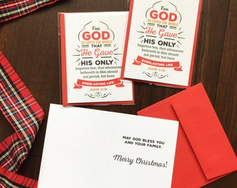 For God so loved the world Christmas Cards