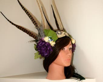 Spring goddess headpiece