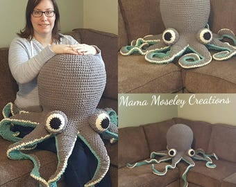 Huge crochet octopus pattern